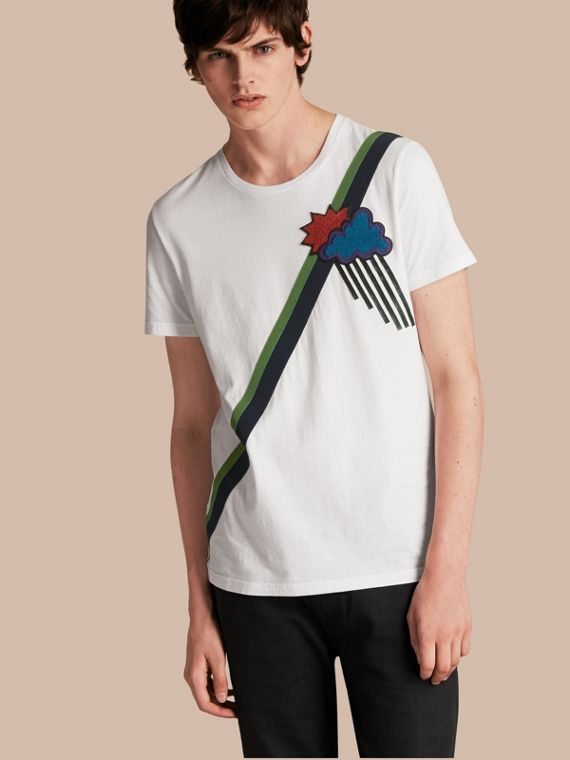 Weather Appliqué Cotton T-shirt