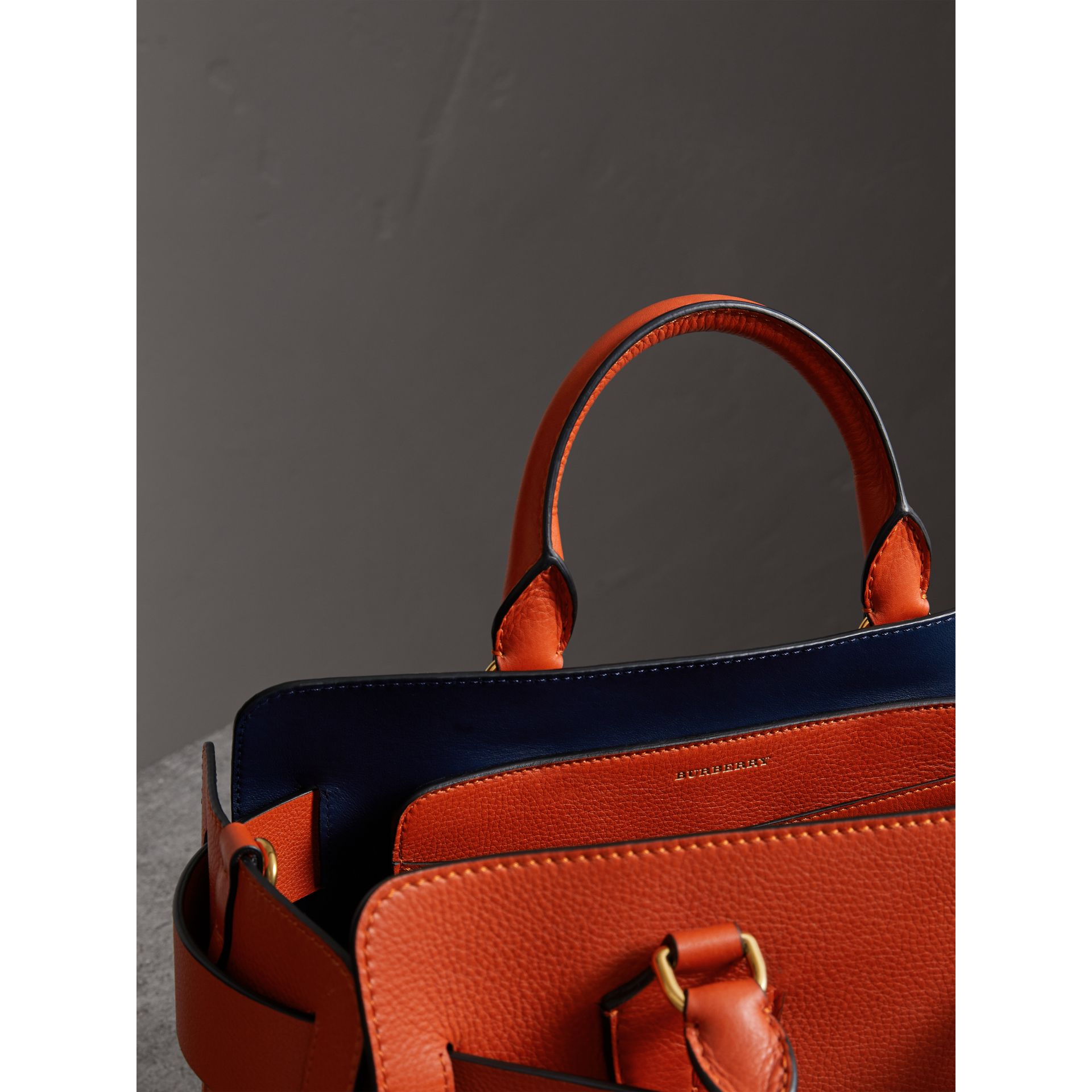 The Medium Leather Belt Bag in Clementine - Women | Burberry - gallery image 5
