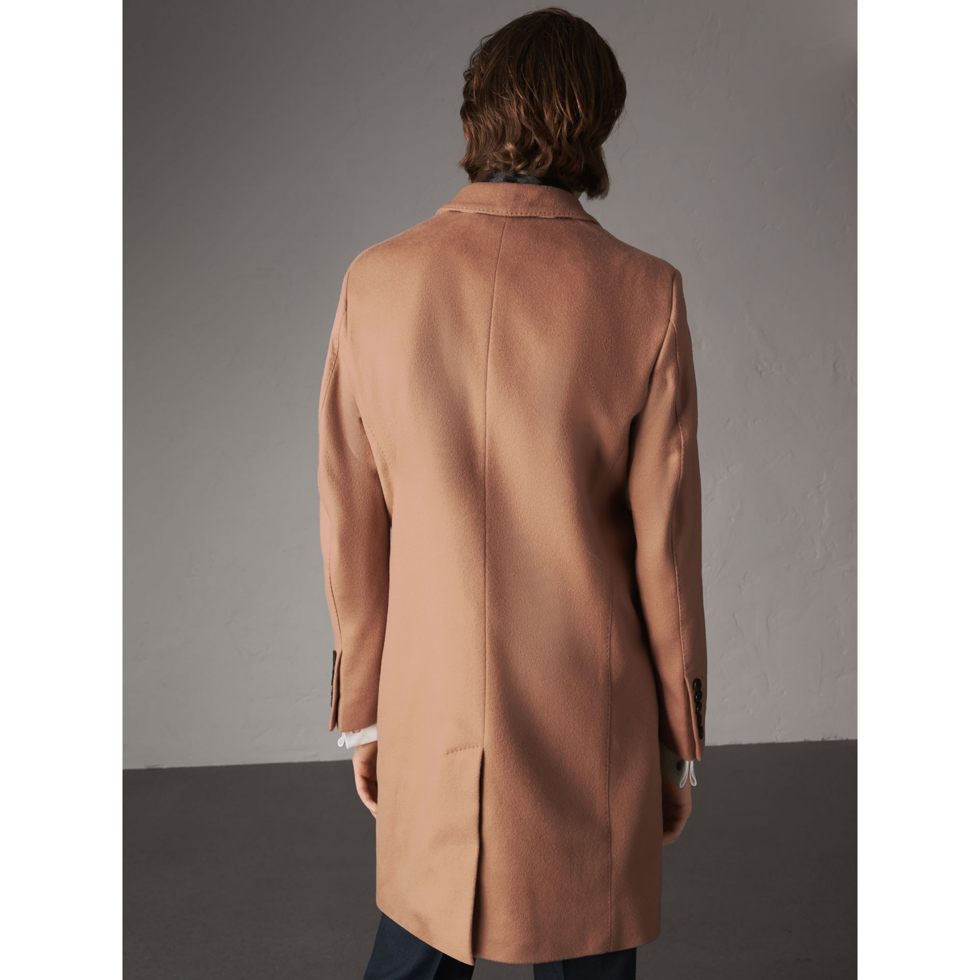 Wool Cashmere Tailored Coat in Camel - Men | Burberry - gallery image 3