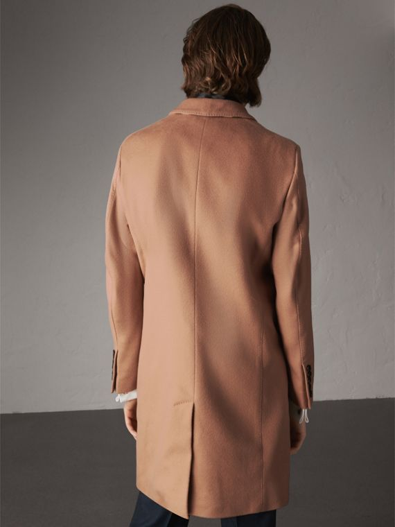 Wool Cashmere Tailored Coat in Camel - Men | Burberry United States - cell image 2