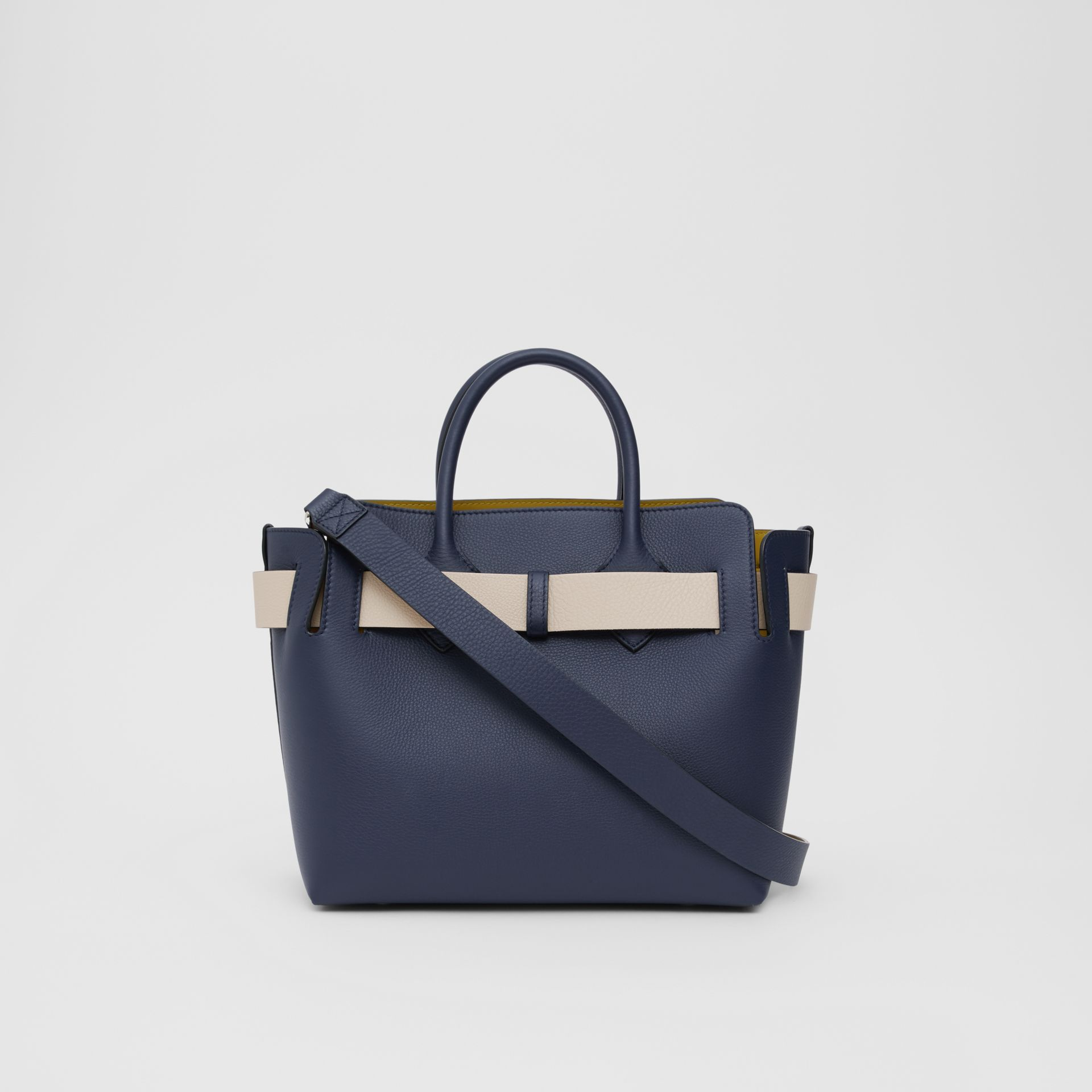 The Small Tri-tone Leather Triple Stud Belt Bag in Regency Blue - Women | Burberry - gallery image 5