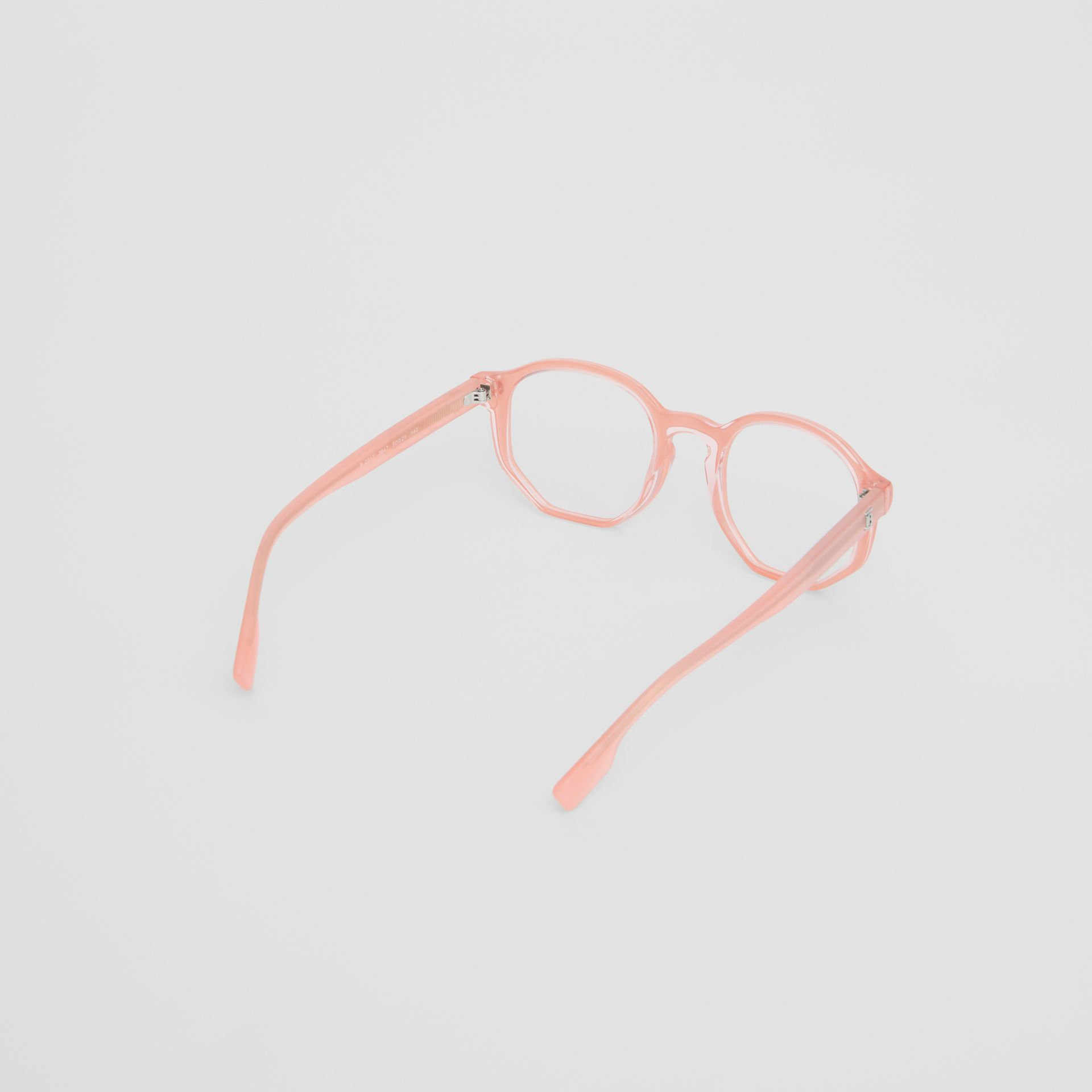 Geometric Optical Frames in Pink - Women | Burberry United Kingdom - gallery image 4