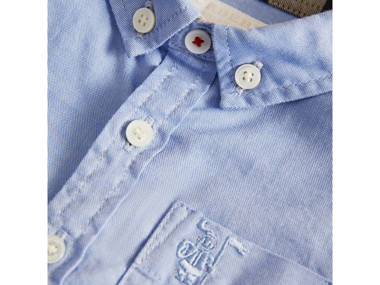 Chemise Oxford en coton (Bleu Barbeau) | Burberry - cell image 1