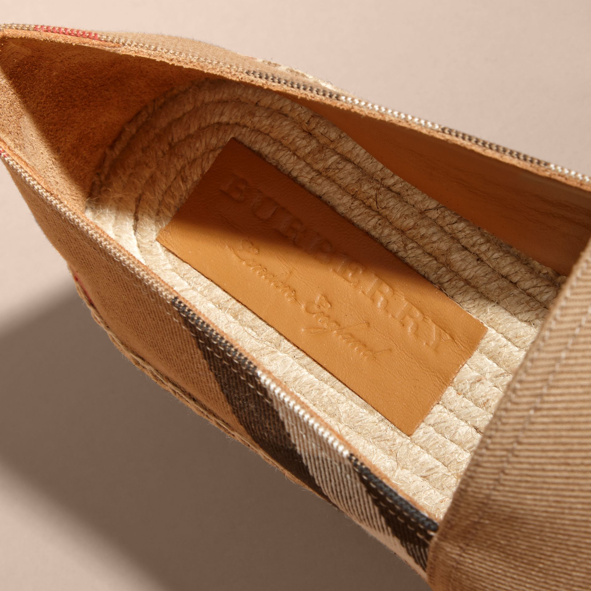 Canvas Check Espadrilles - Men | Burberry - gallery image 2
