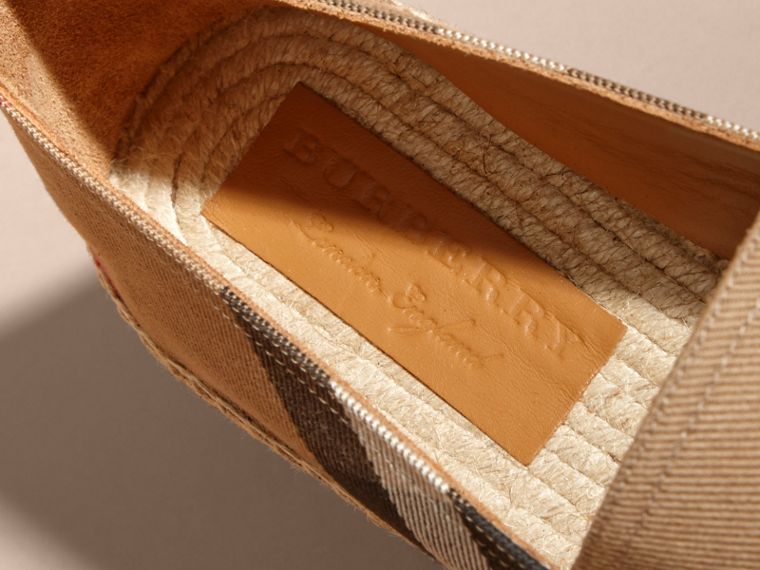 Canvas Check Espadrilles - Men | Burberry - cell image 1