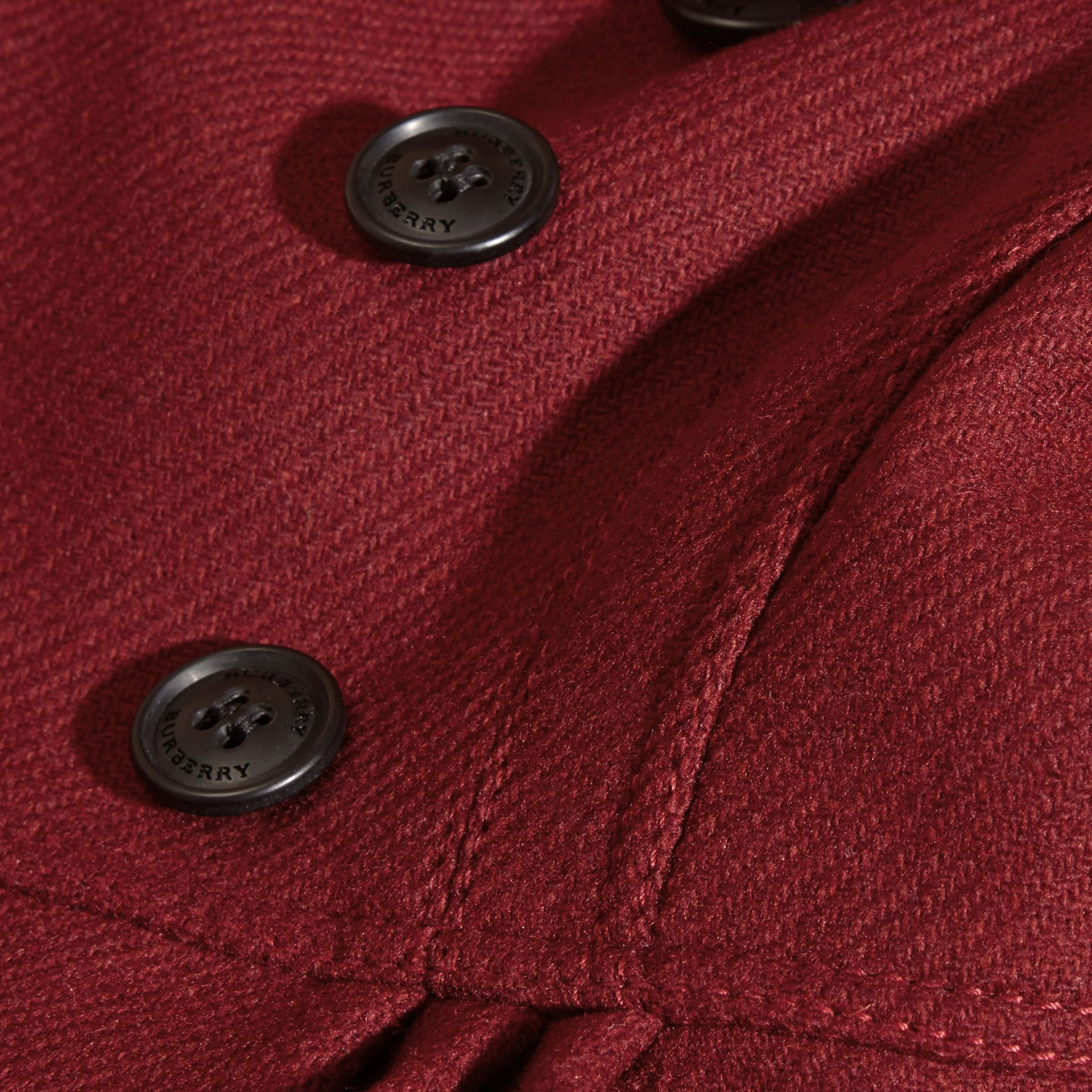 Deep claret Tailored Wool Cashmere Blend Coat Deep Claret - gallery image 2