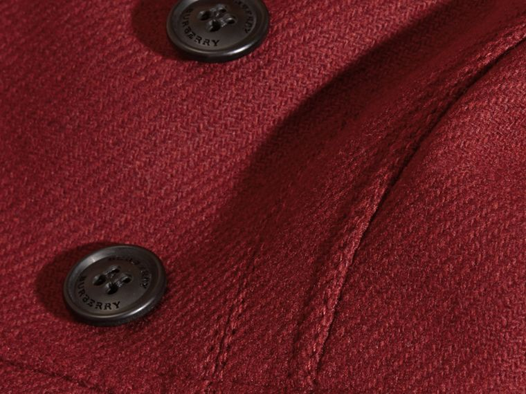 Deep claret Tailored Wool Cashmere Blend Coat Deep Claret - cell image 1