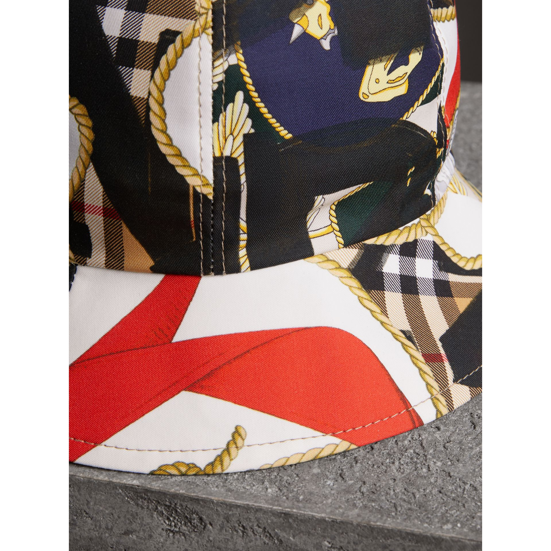 Graffiti Scarf Print Bucket Hat in Multicolour | Burberry - gallery image 1