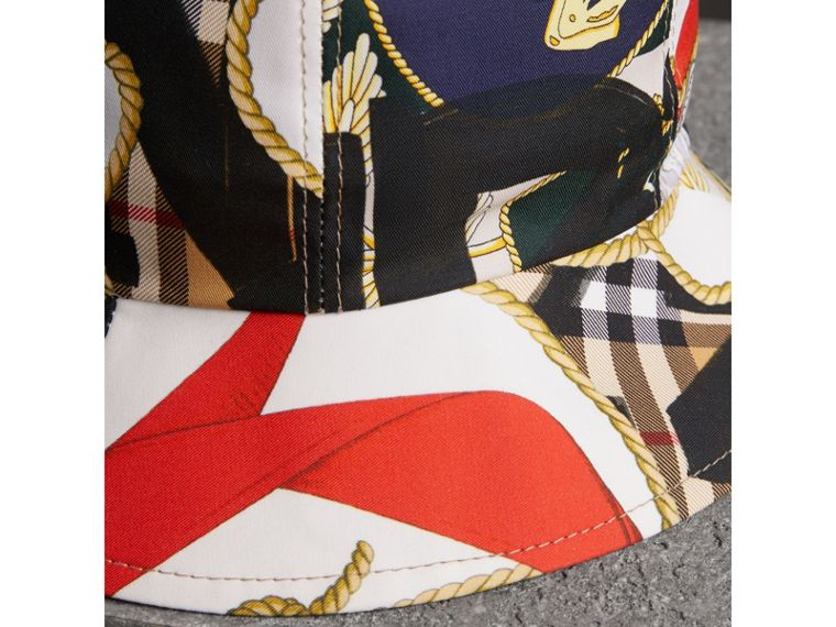 Graffiti Scarf Print Bucket Hat in Multicolour | Burberry - cell image 1