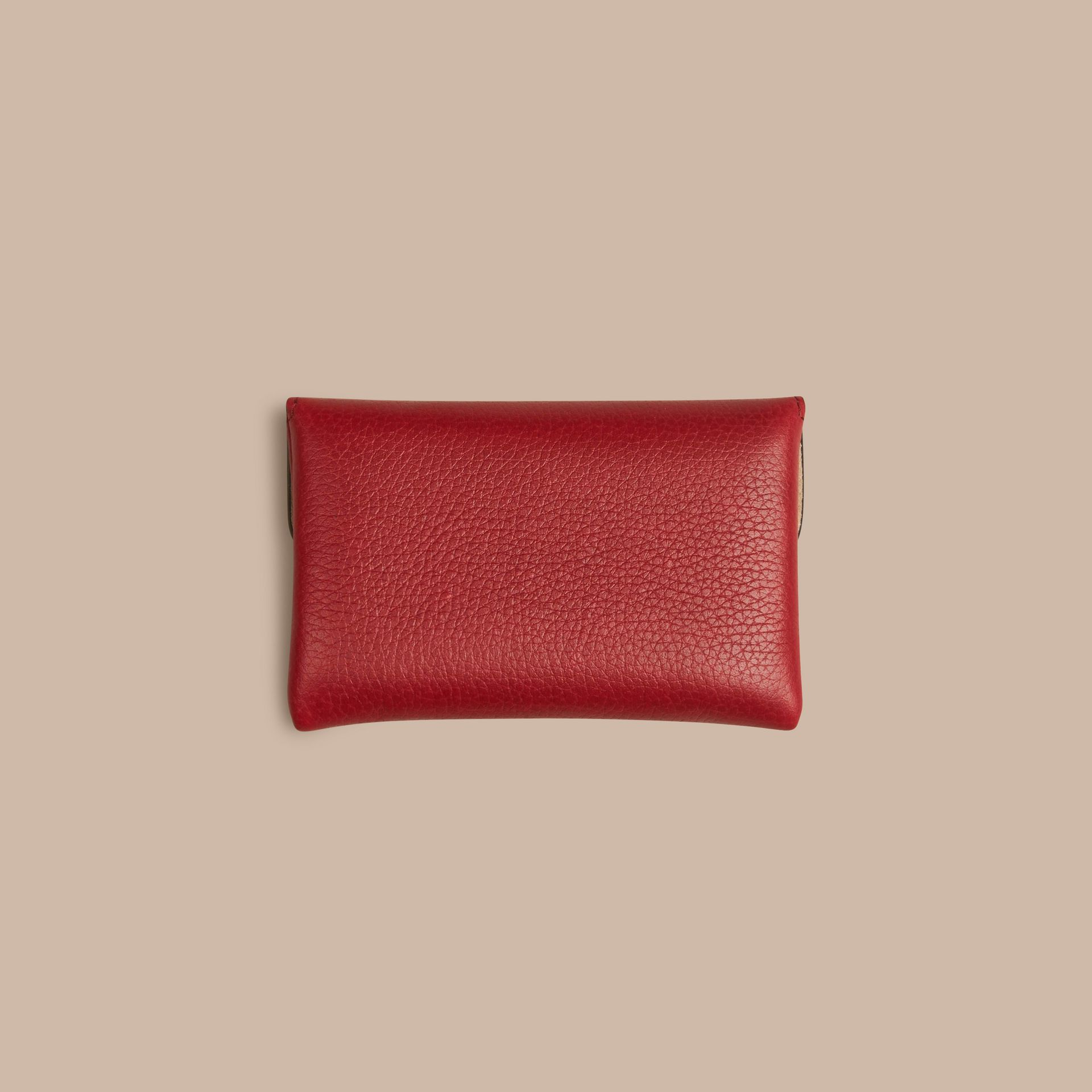 Grainy Leather Playing Card Case in Parade Red | Burberry - gallery image 4