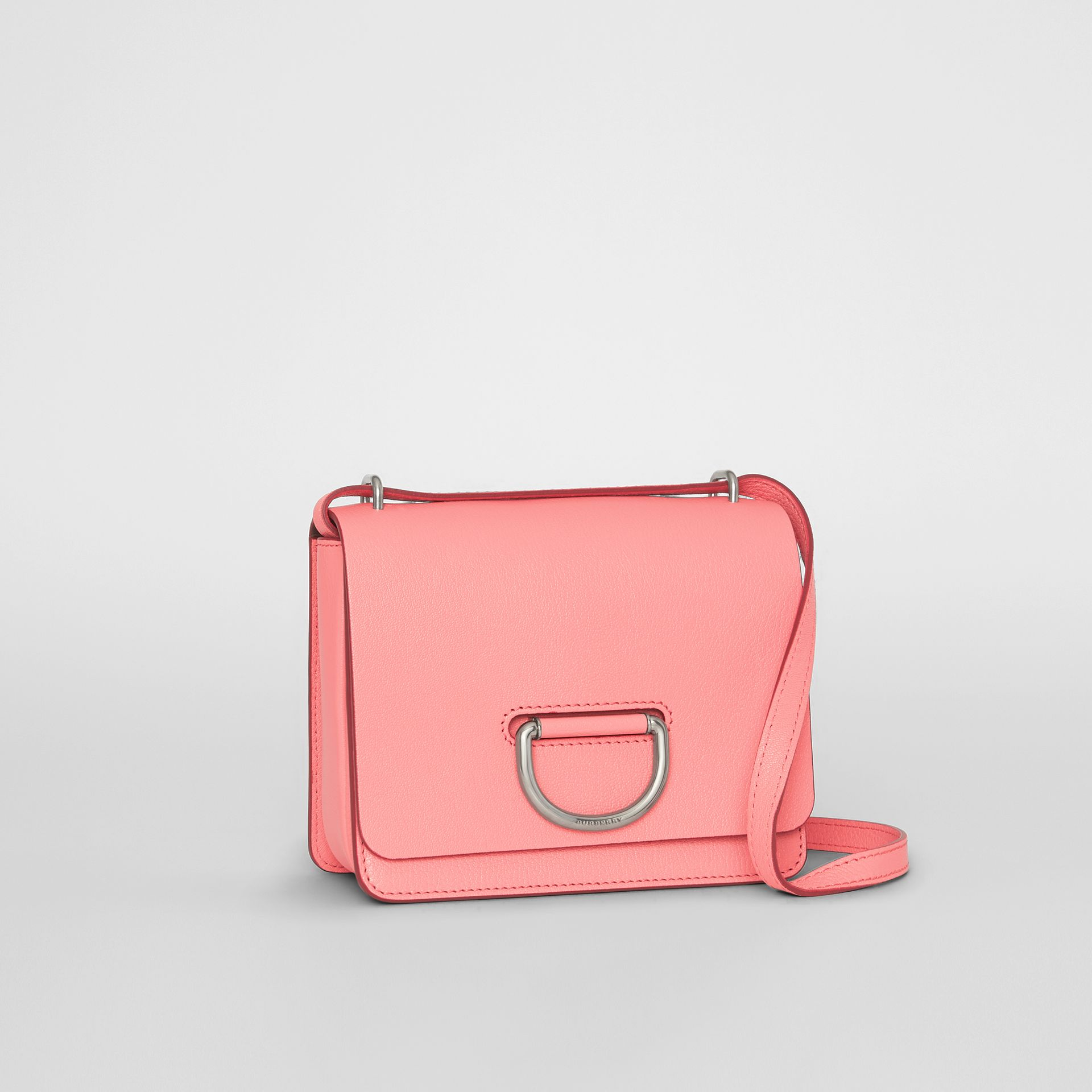 The Small Leather D-ring Bag in Bright Coral Pink - Women | Burberry - gallery image 6