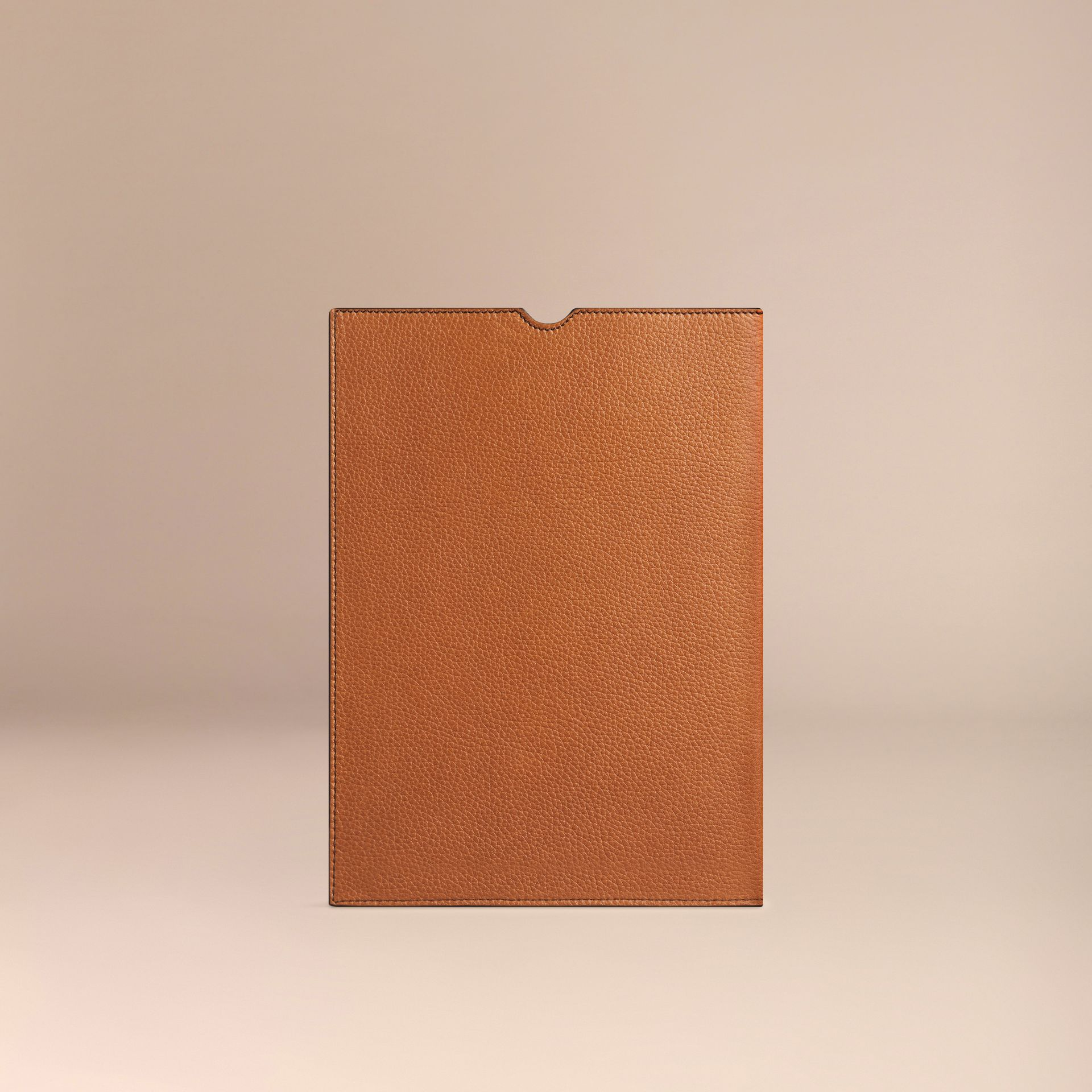 Tan Grainy Leather iPad Case Tan - gallery image 2