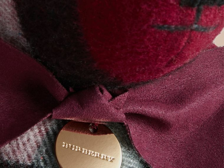Thomas Bear in Check Cashmere in Plum | Burberry Australia - cell image 1