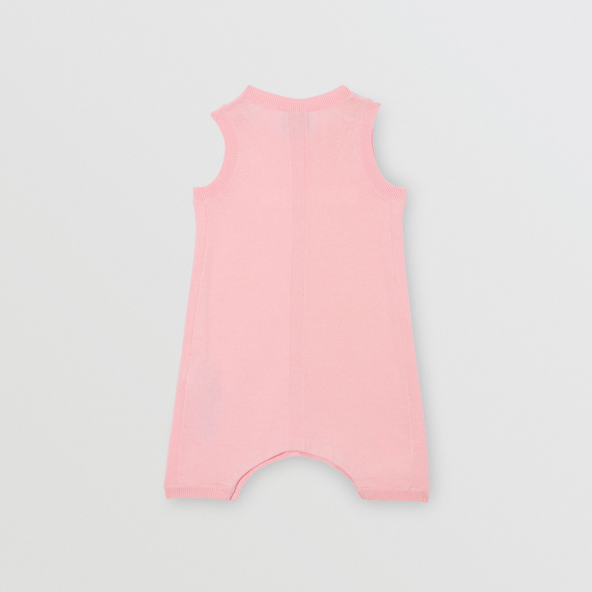Logo Print Cotton Bodysuit in Pale Rose Pink - Children | Burberry - gallery image 3
