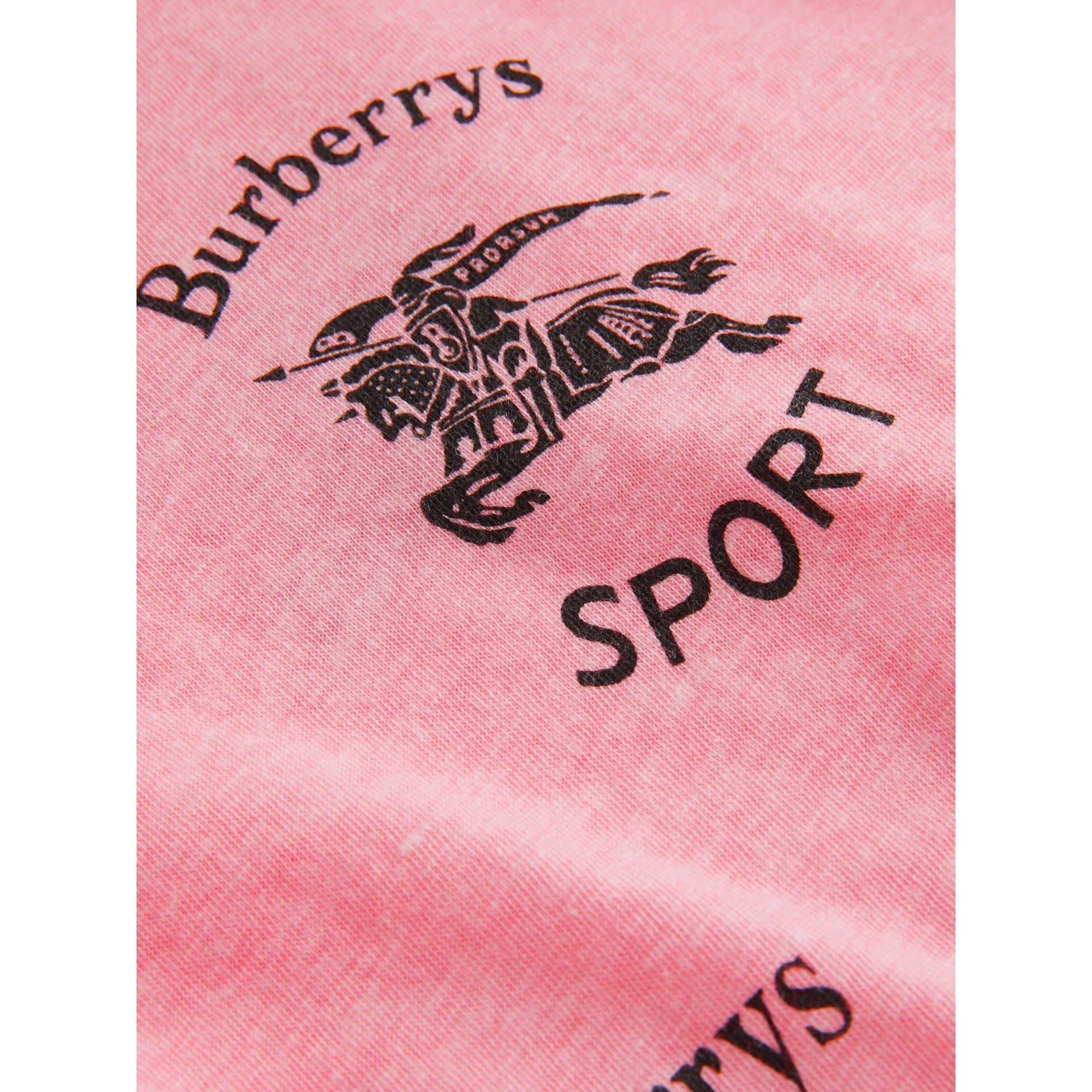 Archive Logo Print Jersey T-shirt in Neon Pink - Girl | Burberry - gallery image 1