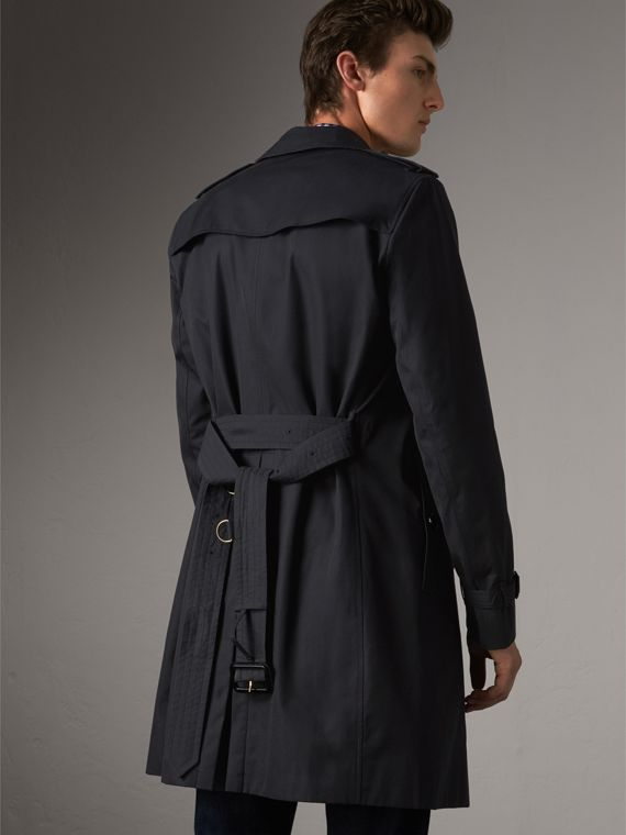 The Chelsea – Long Trench Coat in Navy - Men | Burberry Singapore - cell image 2