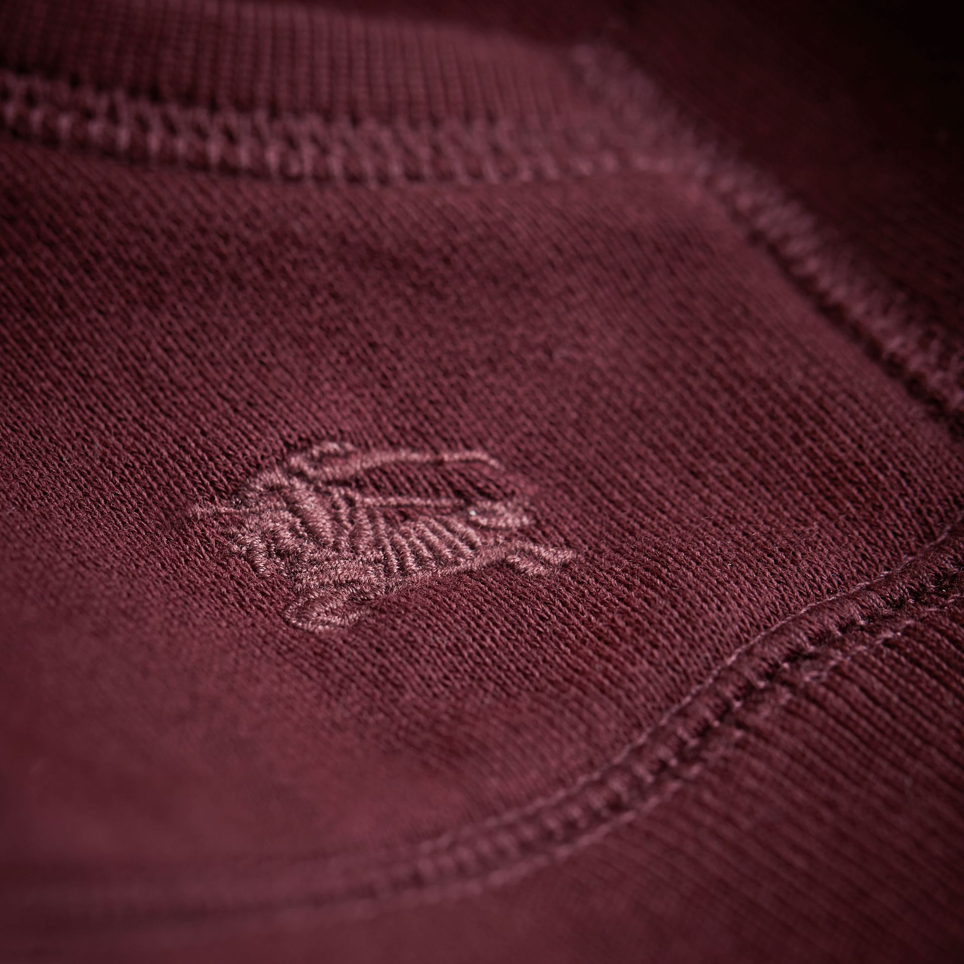 Hooded Cotton Top in Burgundy - Boy | Burberry - gallery image 2
