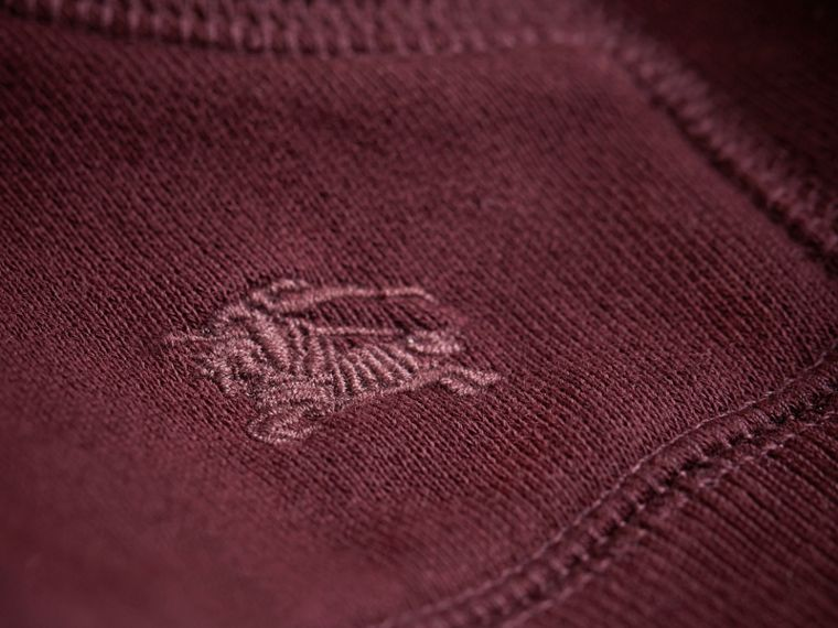 Hooded Cotton Top in Burgundy - Boy | Burberry United Kingdom - cell image 1