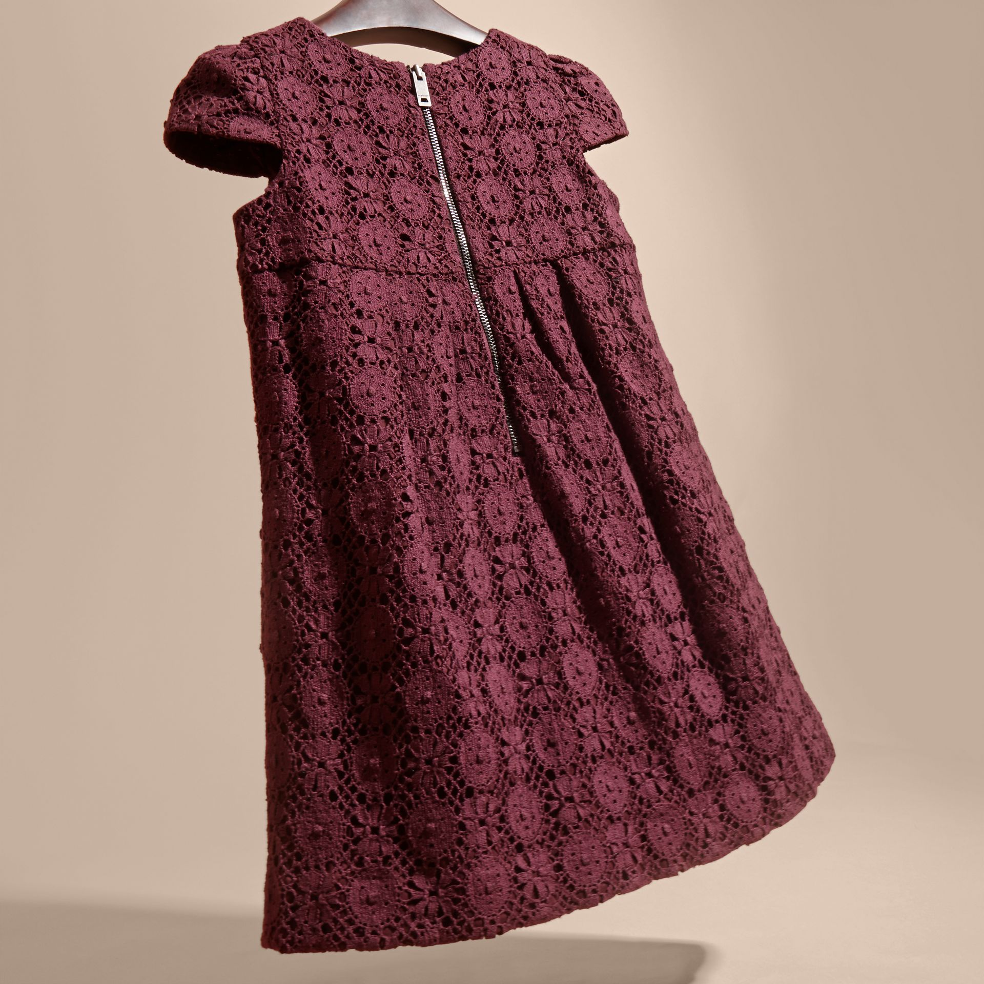 English Lace Dress in Beetroot - gallery image 4