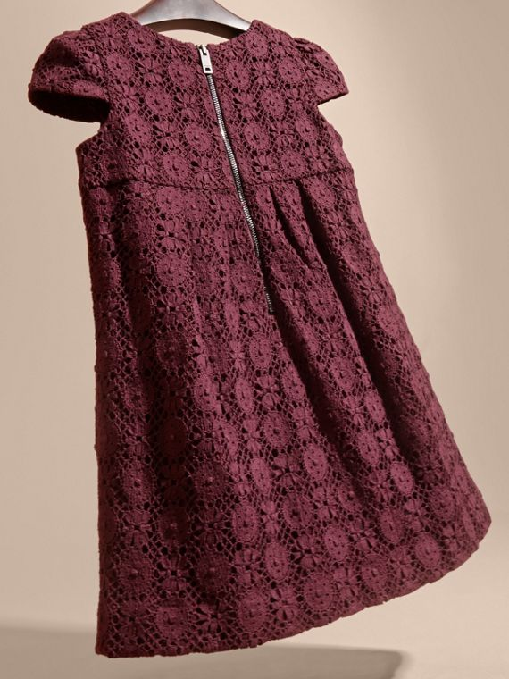 English Lace Dress in Beetroot - cell image 3