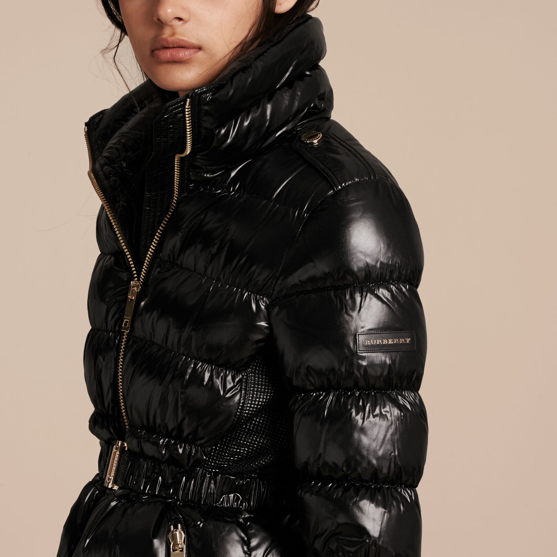 Black Lightweight Down-filled Jacket Black - gallery image 5