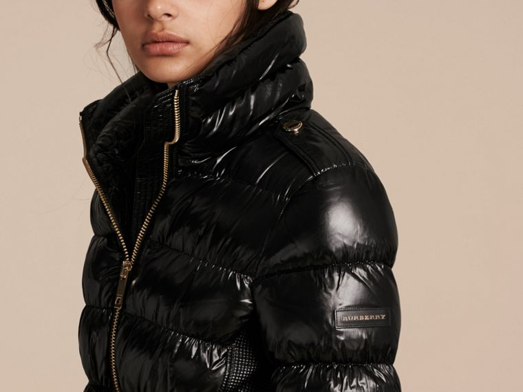Black Lightweight Down-filled Jacket - cell image 4