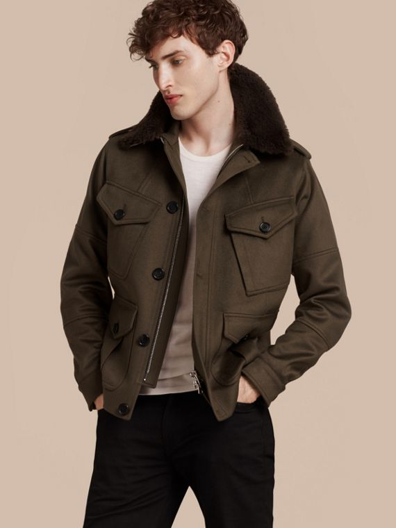 Shearling Topcollar Cashmere Field Jacket