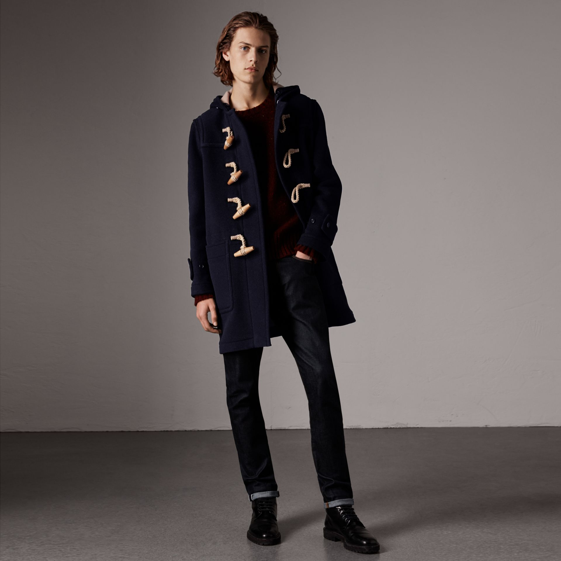 The Greenwich Duffle Coat in Navy - Men | Burberry United Kingdom - gallery image 0