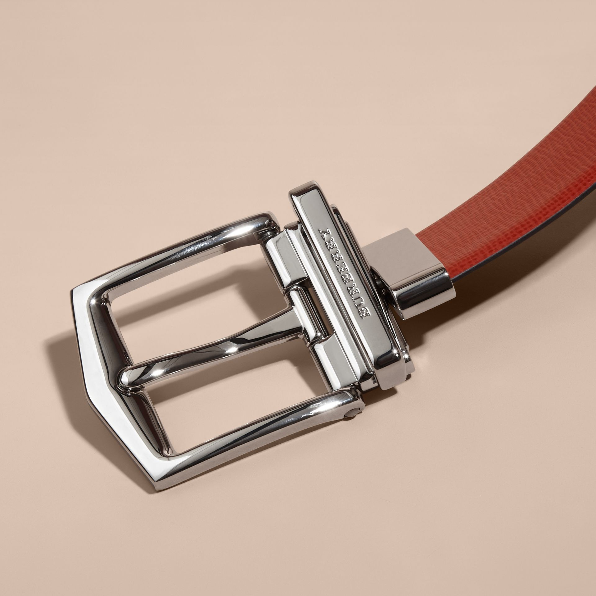 Burnt sienna/black Reversible London Leather Belt Burnt Sienna/black - gallery image 4