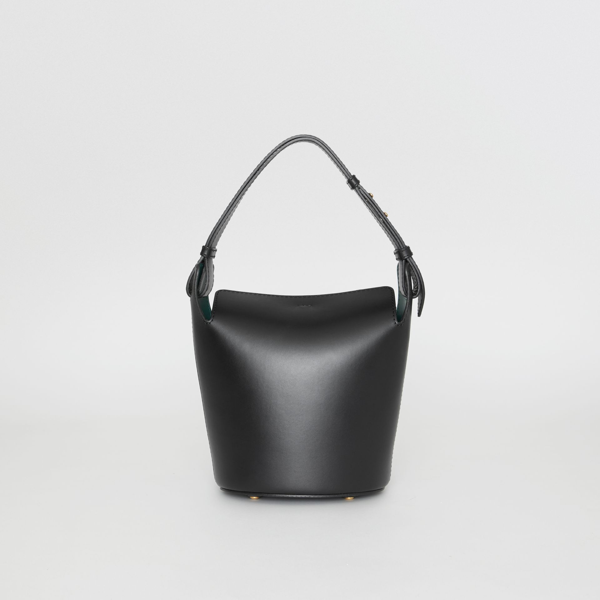 The Small Leather Bucket Bag in Black - Women | Burberry - gallery image 7