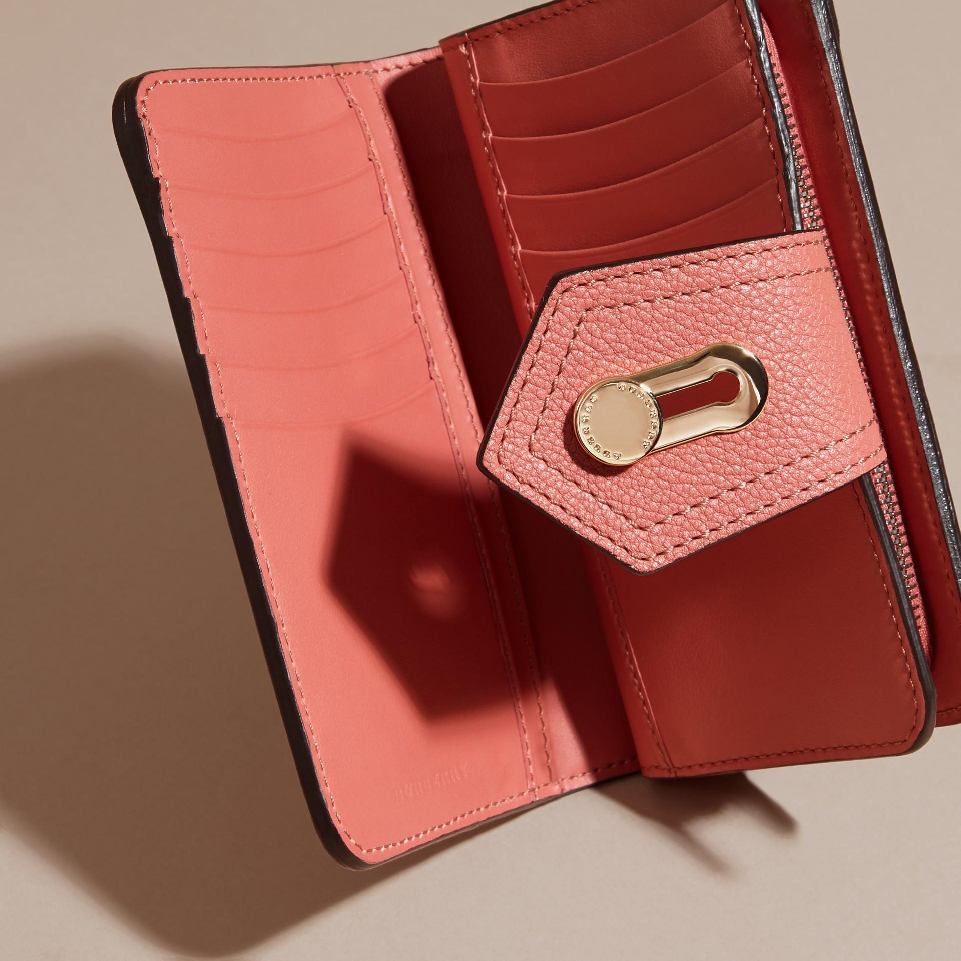 Rosa rame Portafoglio in pelle a grana Rosa Rame - immagine della galleria 5