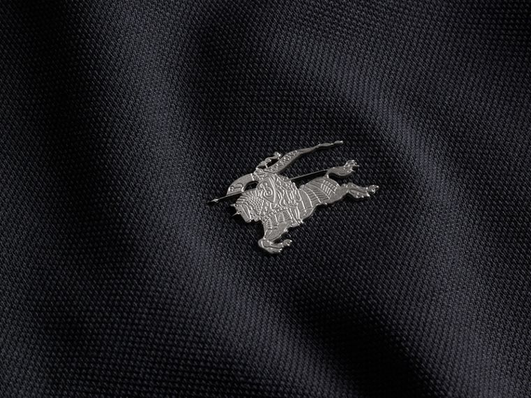 Dark navy Contrast Colour Detail Cotton Piqué Polo Shirt Dark Navy - cell image 1