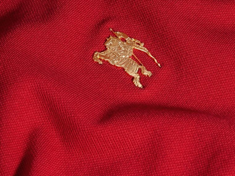 Military red Stretch Cotton Piqué Polo Shirt Military Red - cell image 1