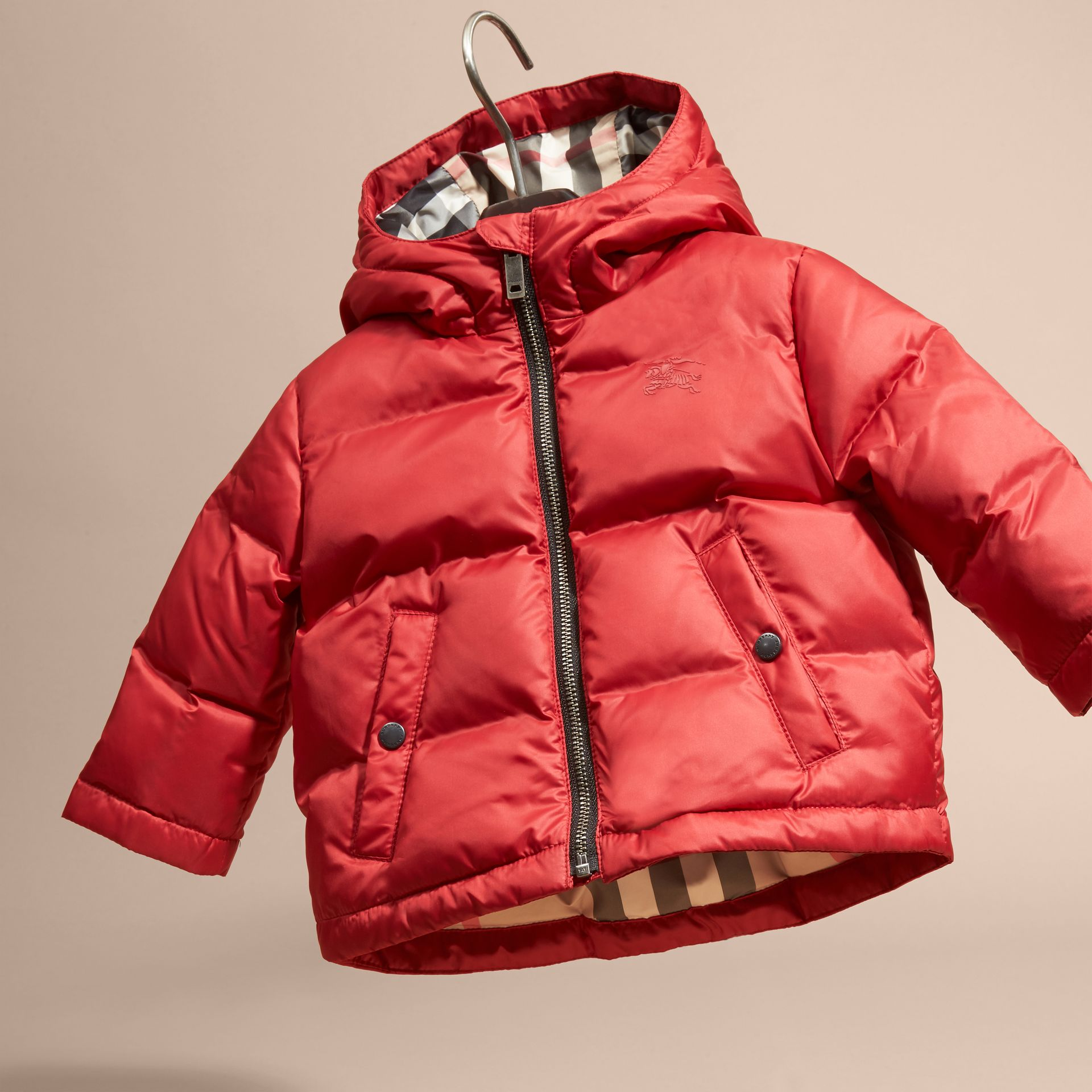 Hooded Down-filled Puffer Coat - gallery image 3