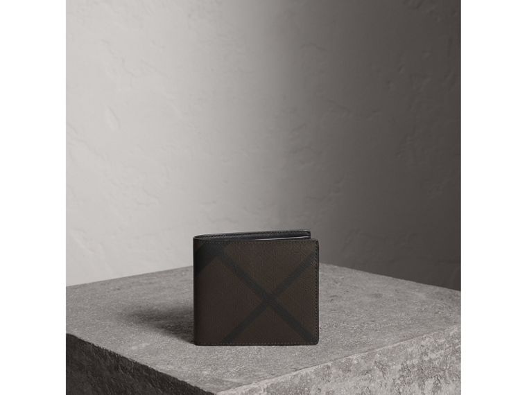 London Check ID Wallet in Chocolate/black - Men | Burberry - cell image 4