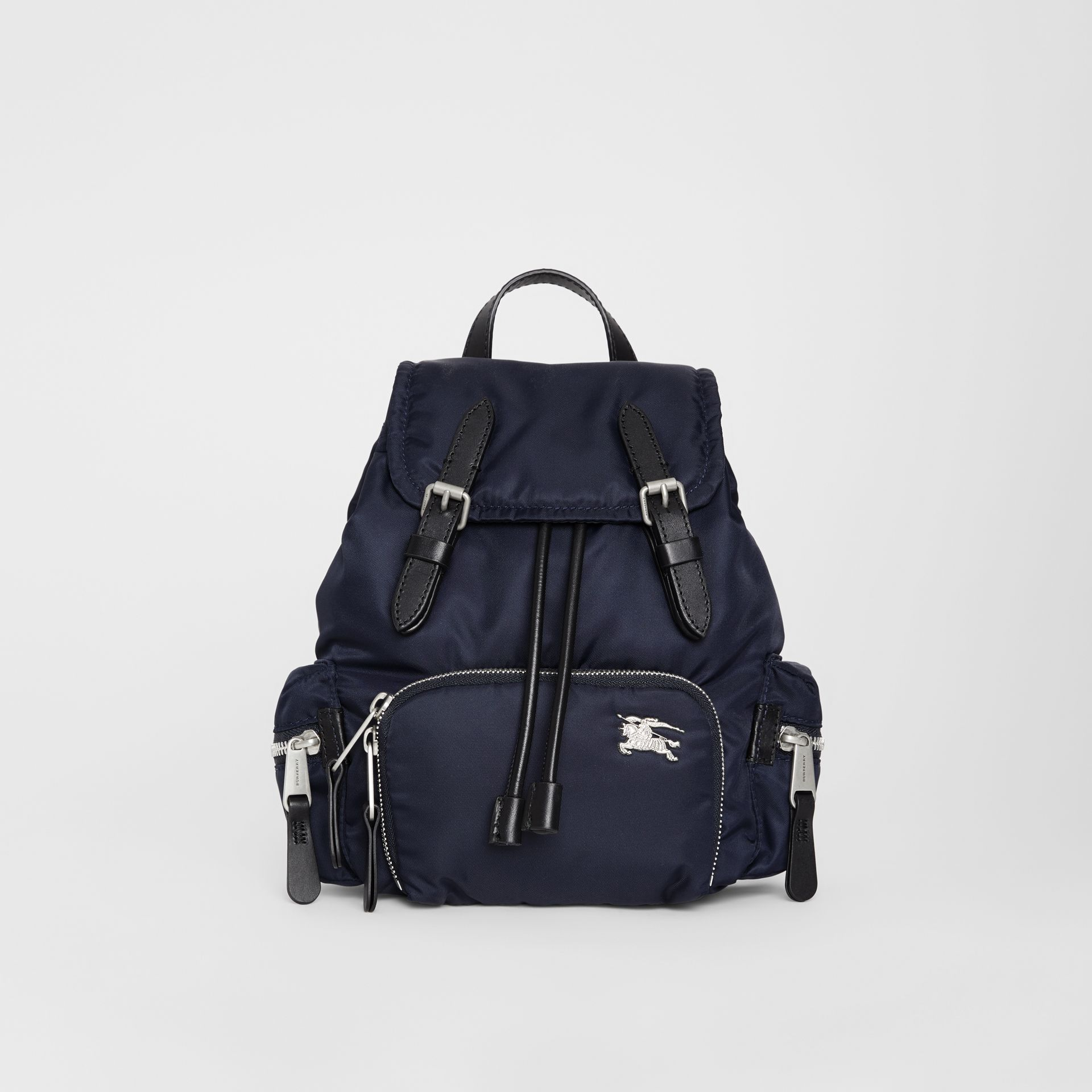 The Small Crossbody Rucksack in Puffer Nylon in Ink Blue - Women | Burberry Canada - gallery image 0