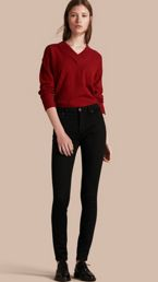 Skinny Fit High-Rise Deep Black Jeans