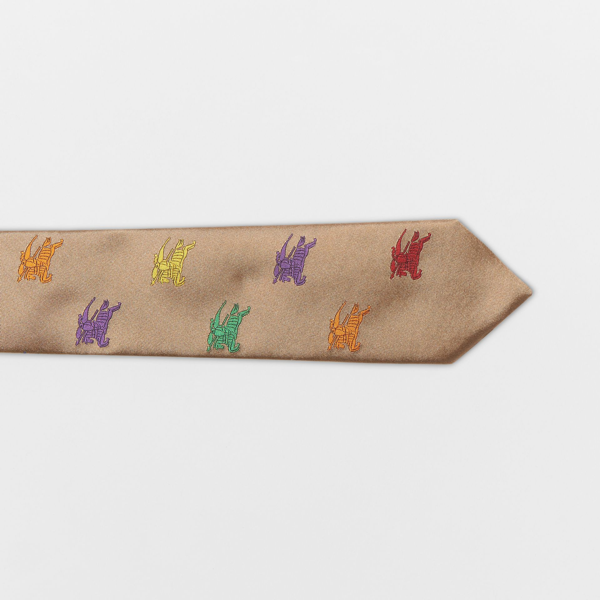 Slim Cut EKD Silk Tie in Camel - Men | Burberry United States - gallery image 1