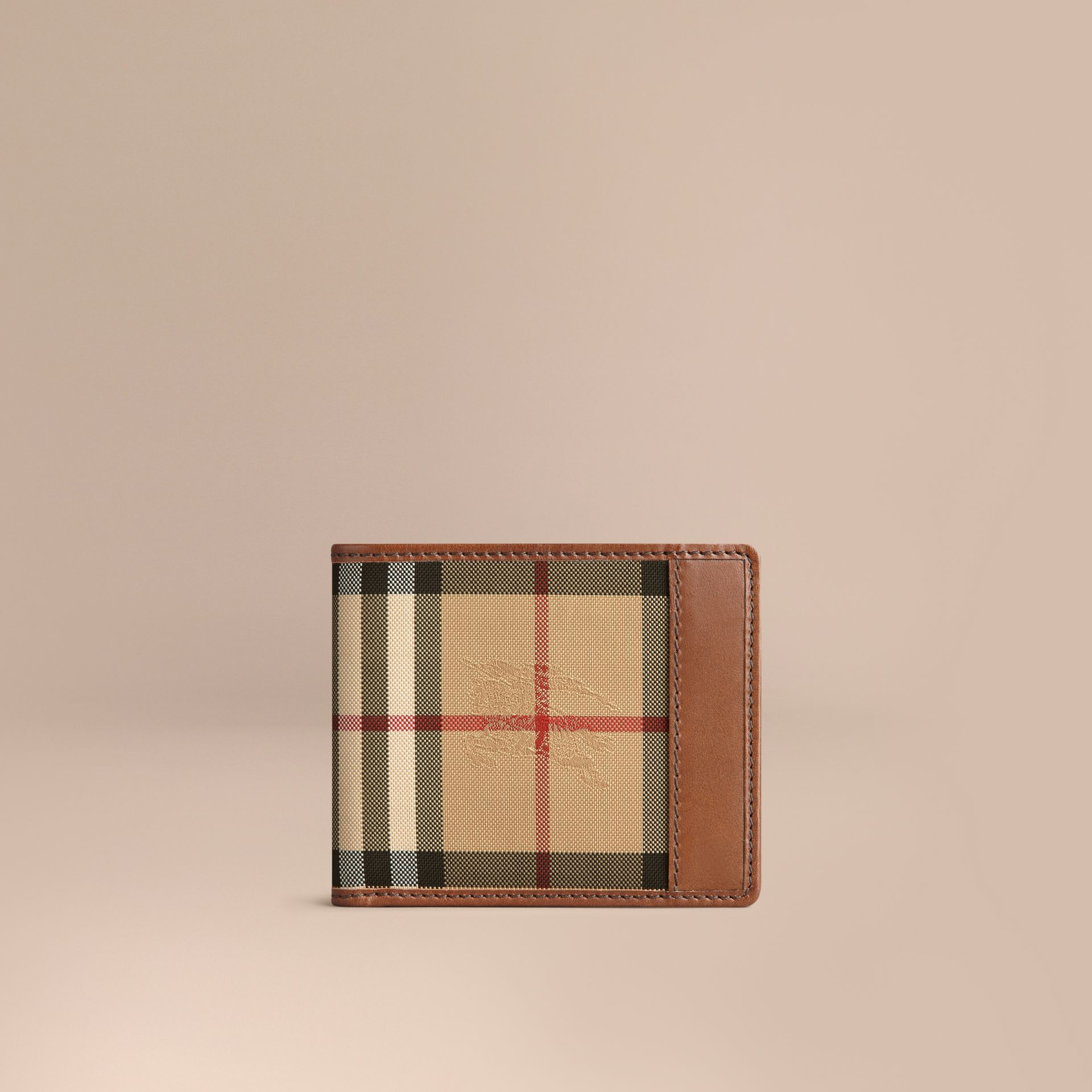 Horseferry Check ID Wallet Tan - gallery image 1