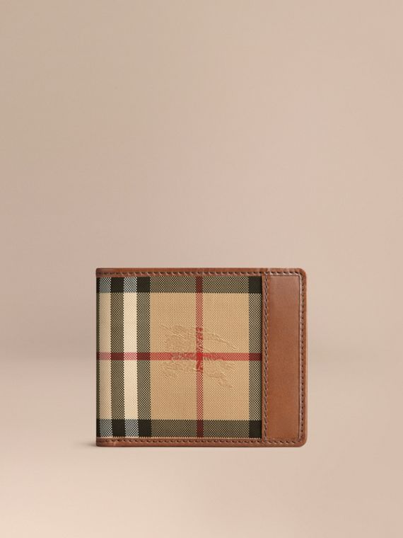 Horseferry Check ID Wallet in Tan - Men | Burberry