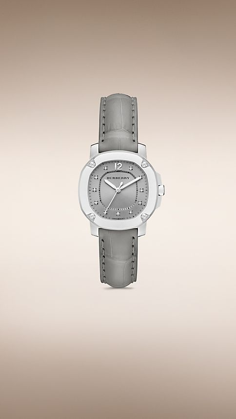 Grey THE BRITAIN BBY1808 34MM DIAMOND INDEXES - Image 1