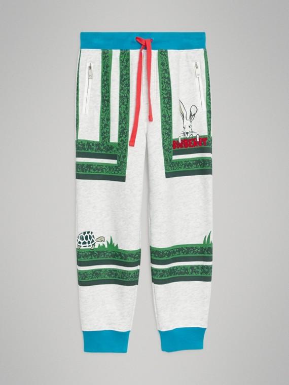 Pantalones deportivos en algodón con estampado de laberinto de setos (Colores Variados)