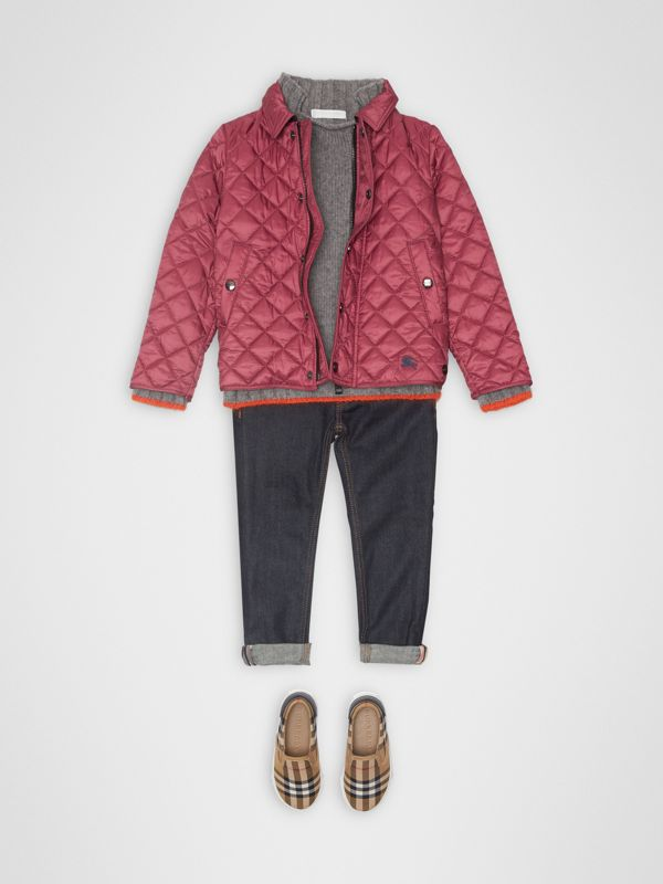Lightweight Diamond Quilted Jacket in Peony Rose | Burberry United Kingdom - cell image 2