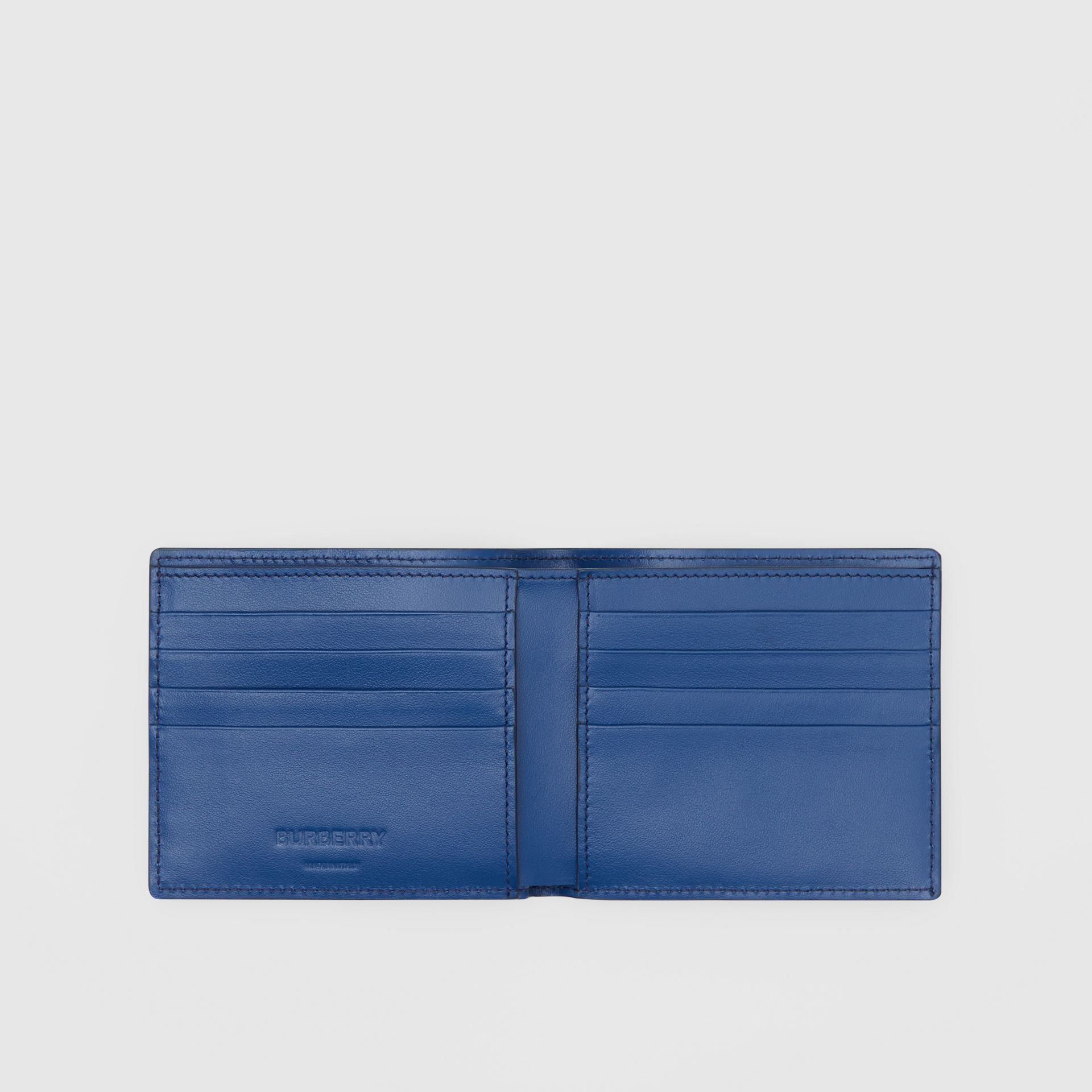 Monogram Leather International Bifold Wallet in Pale Canvas Blue - Men | Burberry United States - gallery image 2