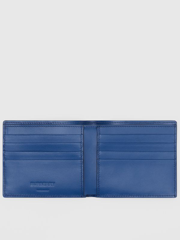 Monogram Leather International Bifold Wallet in Pale Canvas Blue - Men | Burberry United States - cell image 2