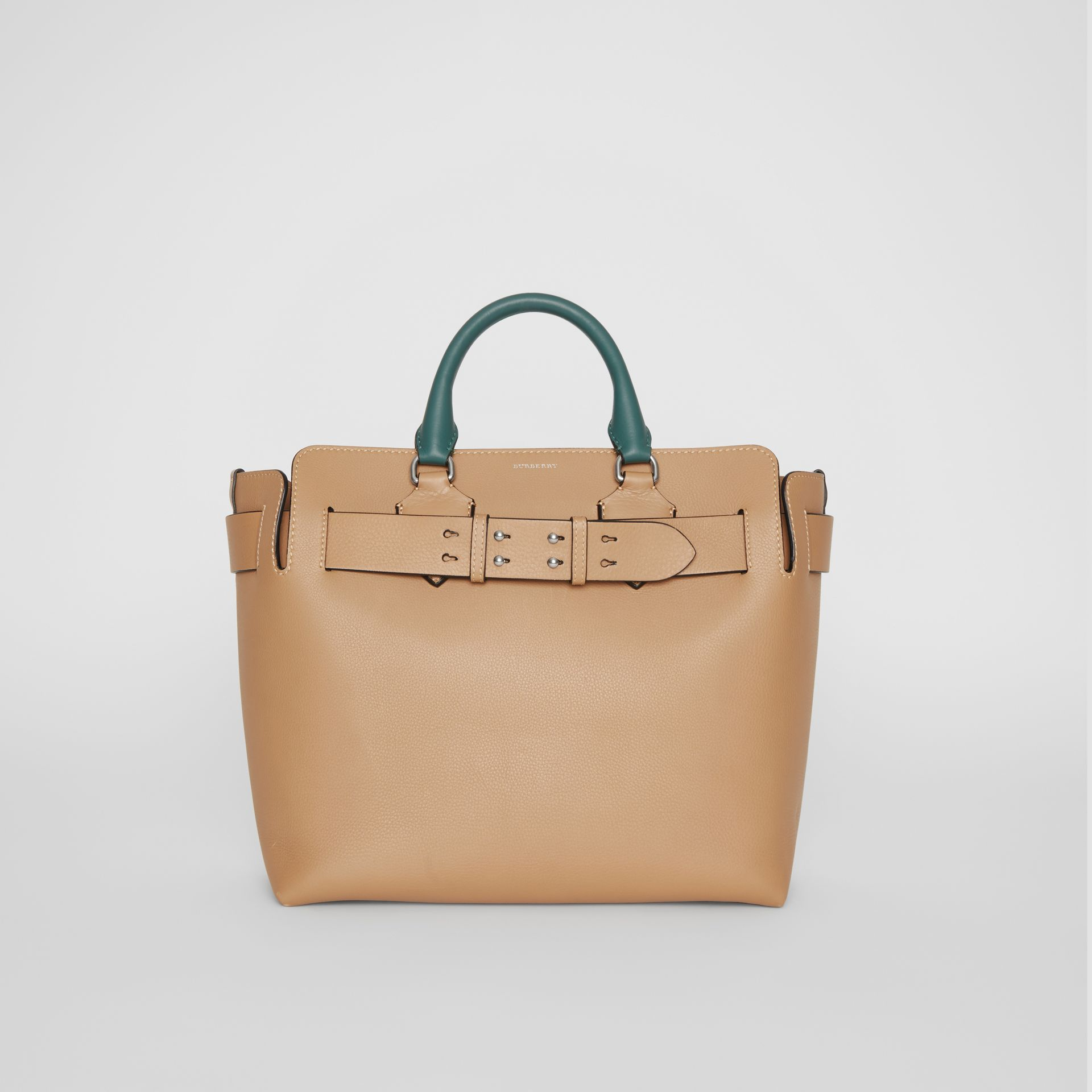 The Medium Tri-tone Leather Belt Bag in Light Camel - Women | Burberry Australia - gallery image 0
