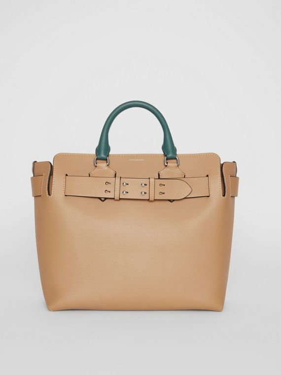 Sac The Belt moyen en cuir tricolore (Camel Clair)