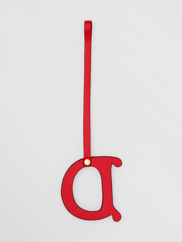 'D' Studded Leather Alphabet Charm in Red/light Gold - Women | Burberry Hong Kong S.A.R - cell image 2