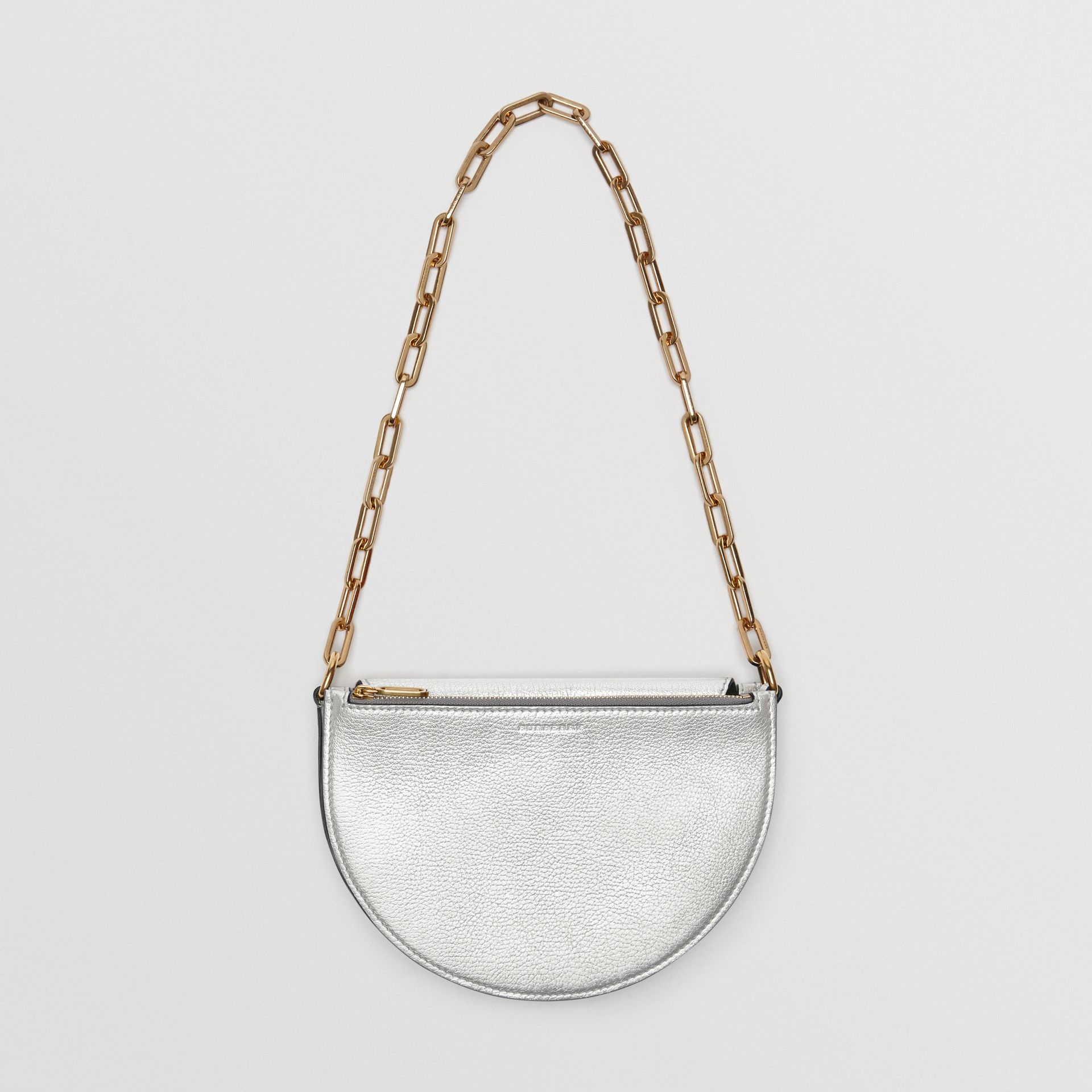 The Small D-Bag aus Metallic-Leder (Silberfarben) - Damen | Burberry - Galerie-Bild 3