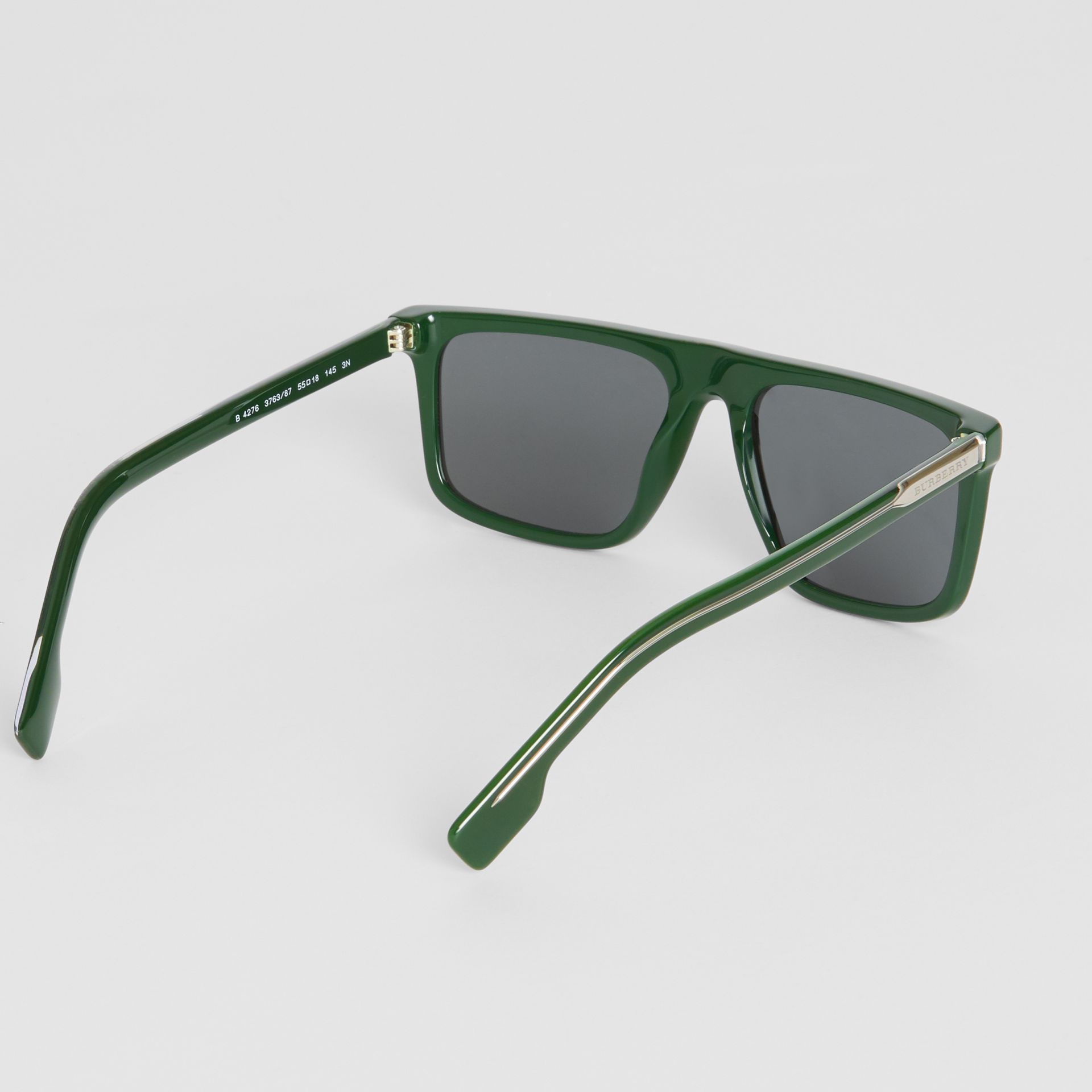 Straight-brow Sunglasses in Green - Men | Burberry United Kingdom - gallery image 4